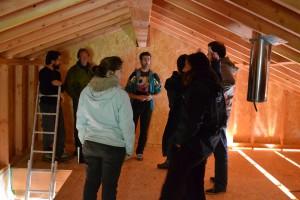 Visite chantier ossature bois